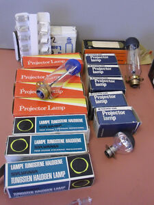 Diverse Selection of Projector Light Bulbs Tungsten Halogen