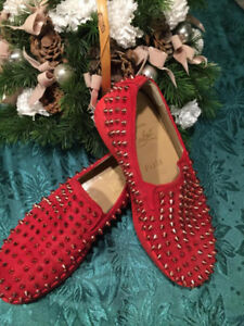 Christian Louboutin Red spiky flats $500 OBO
