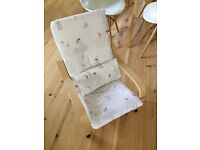 Girl's Ikea poang chair with ballet fabric cover