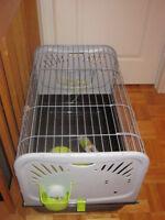 cage à lapin équipée