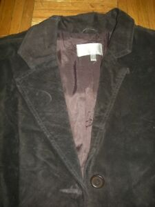 Urgent New Real suede jacket brown sz M blazer style spring/fall