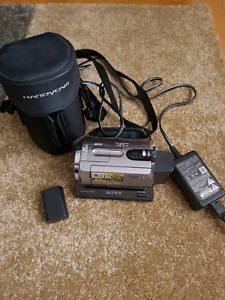 Sony handycam with 2 batteries for sale.