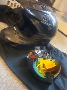 509 carbon fiber helmet and 509 Avaitor Googles