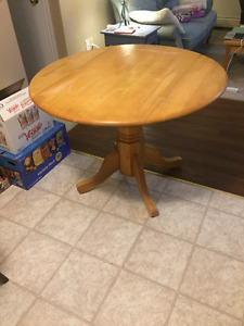 solid pine drop leaf table