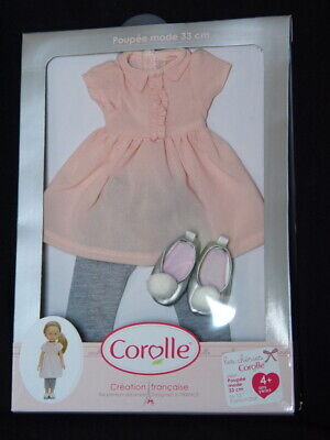 """New in Package ~ Corolle Les Cheries Dress Leggins & Shoes for 13 """" Fashion Doll ()"""