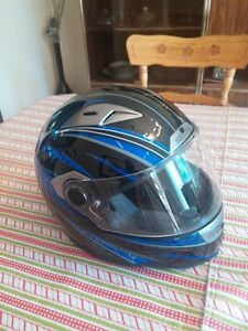 Brand new full faced blue  black and silver helmet NEW PRICE $60