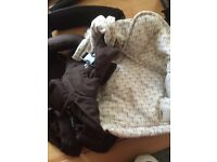 Mamas and Papas baby carrier brown and cream good clean condition