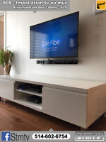 TV INSTALLATION 514-602-6754 television support murale on wall
