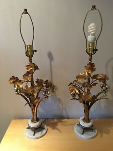 Art deco style lamps with marble base