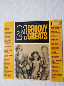 """24 Groovy Hits""  record on an LP"