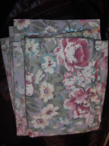 Floral Bed Sheet And Two Pillow Cases
