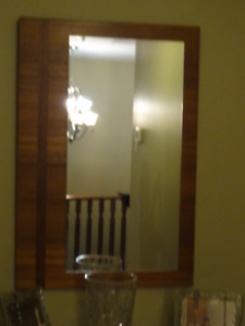 Mirror on natural teak wood