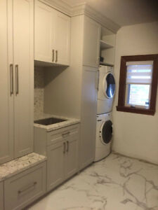 Luxurious Custom Laundry Rooms, Bathroom Vanities, Closets