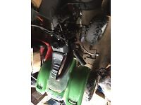 Kids quad 50cc 3 gear semi runs well just wants a front plastic