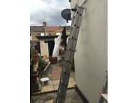 Double 18 step/rung aluminium ladder