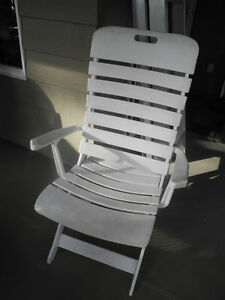 White Plastic Outdoor Chair