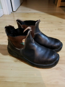 Mens Blundstones Brown Safety Steel Toe Green Tag
