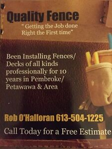 NEED A FENCE? Free Estimates.. Call Now