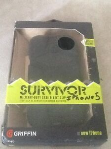 SURVIVOR MILITARY CASE AND BELT CLIP I PHONE 5 CASE