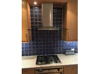 New world gas oven, gas hob and glass extractor fan. All in good working condition