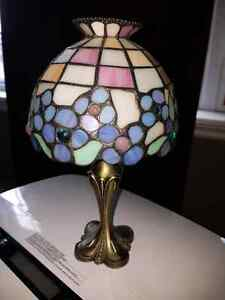 Partylite Tiffany style stained glass  tealight holder