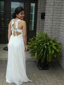 White Prom Dress with Sequins