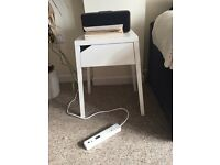 Simple white IKEA side table / bedside table
