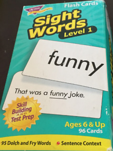 Flash Cards Sight Words - Level 1