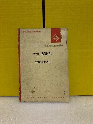 General Radio Type 631-bl Strobotac Operating Instructions