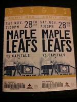 Toronto Maple Leafs Vs. Capitals tickets