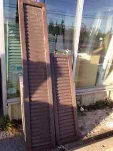 Brown Aluminum Shutters