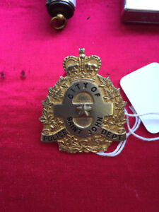Saint John Police Force Badge