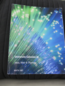 University Calculus 3e by Hass, Weir, ThomasMath 1007