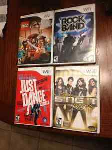 WII GAMES FOR SALE, IN GOOD CONDITION