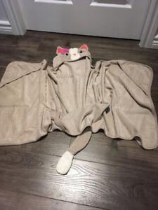 2 serviettes de bain avec capuchons