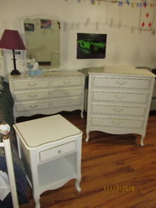 Dressers and nightstand for sale.