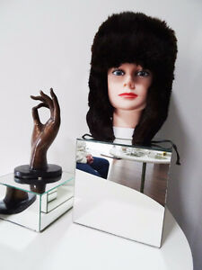 RUSSIAN FUR HAT shapka ushanka treukh EAR FLAPS trooper SABLE Kitchener / Waterloo Kitchener Area image 6