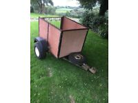 Quad box dump run trailer 4ft* 3ft
