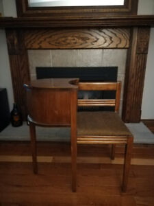 Antique vintage 1960's wood telephone chair
