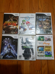Wii Games (Mario Kart, Call of Duty MW3, Call of Duty 3, Star