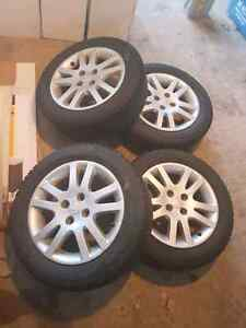 4x100 honda winter tires with rims