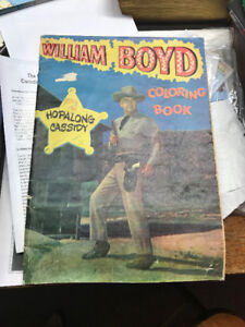 1950's William Boyd - Hopalong Cassidy Coloring Book