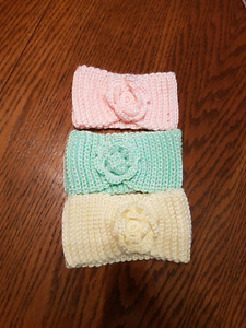 Handmade crochet baby head band