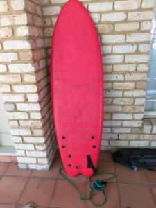 """PRICE DROP 5""""9 foam beginners surfboard"""