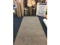 Thick grey soft touch whipped wide runner 2.9m x 1.15m