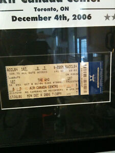 The Who Framed Poster and Concert Ticket Kitchener / Waterloo Kitchener Area image 3