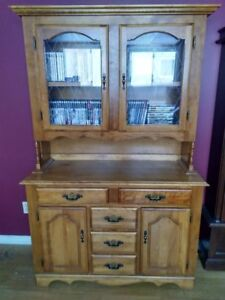 SOLD PPU $250 ALL Solid wood table, six chairs, and two cabinets