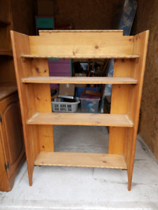 Handcrafted Solid Wood Bookshelf NO HOLDS