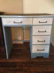 Country Glamour Furniture- Desk For Sale with chalk paint top!