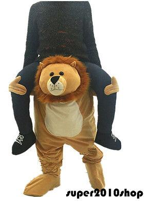 Halloween Lion Mascot Costume Ride On Animals Birthday Fancy Dress Adults Unisex (Animals On Halloween)